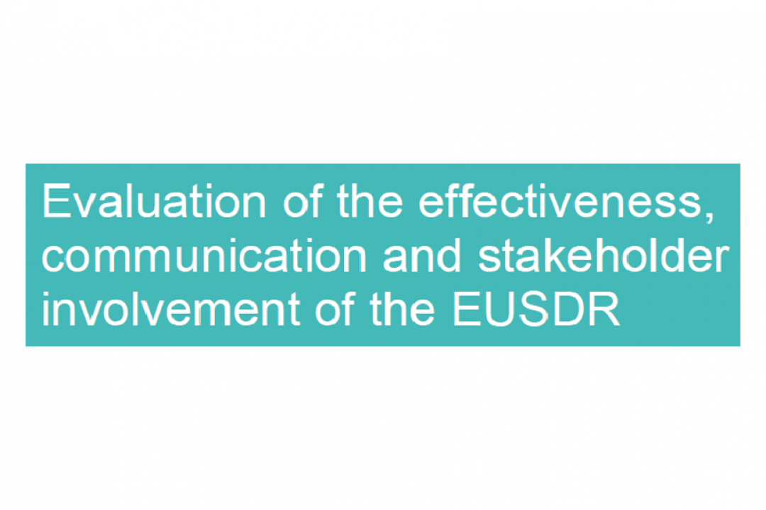 EUSDR Operational Evaluation Report 2019 finalized